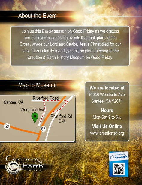 Day of the Cross Event at the Creation and Earth History Museum