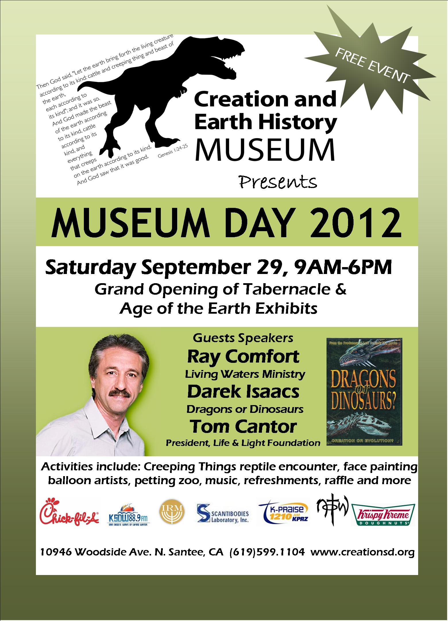 Museum Day 2012 Creation And Earth History Museum