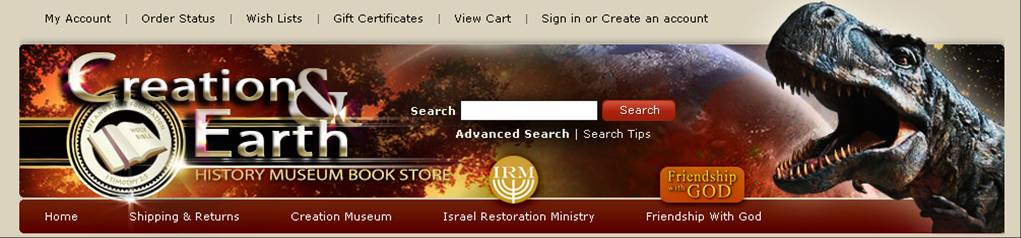 Creation & Earth History Museum Online Store
