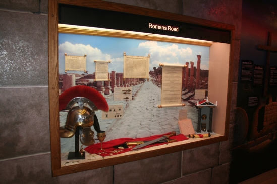 The Romans Road Display at The Creation & Earth History Museum in Santee, CA